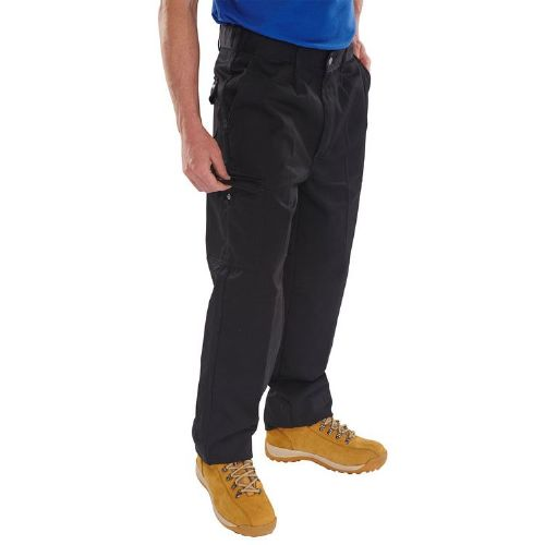 Super Click Heavyweight Black Trousers